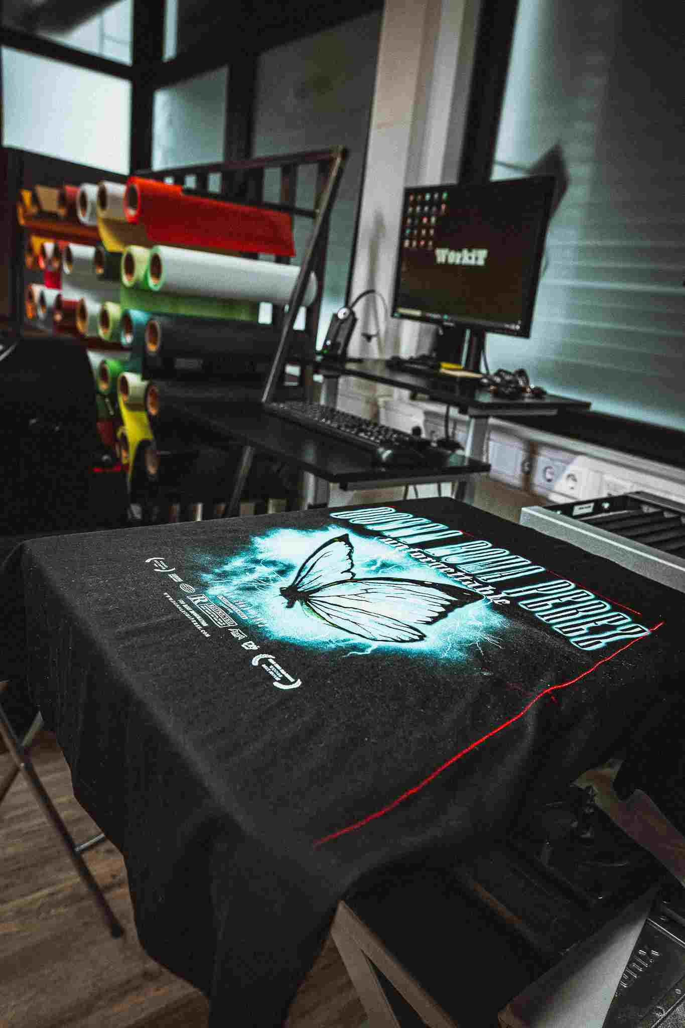 Digitaldruck T-shirt bedrucken Laser